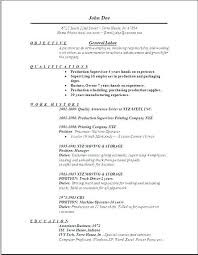 Personal Objectives For Resumes Objective Resume Mysetlist Co