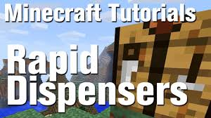 how to make a fence minecraft. Minecraft Tutorial: How To Make A Rapid Dispenser (Machine Gun) In Fence E