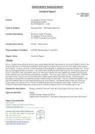 Emergency Management Incident Report Templates At