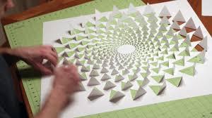on 3d paper wall art tutorial with 3d optical illusion mandala wall art using one sheet of paper youtube
