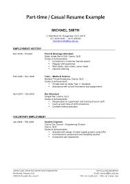 Part Time Job Resume Format