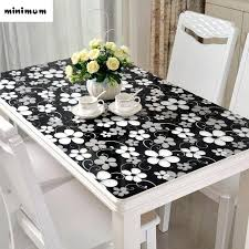 coffee table cloth black tablecloth soft glass table mats waterproof anti hot coffee table cover crystal coffee table cloth
