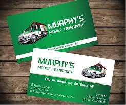 Murphys Mobile Transport 7 Business Card Designs For A