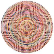 aleen braided cotton jute multi 8 ft round area rug