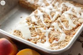 Peaches and Cream Cheese Coffee Cake A Kitchen Addiction