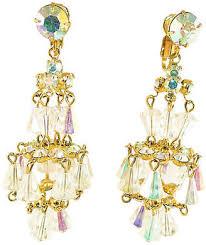 one kings lane vintage 1950s carnegie chandelier earrings neil zevnik