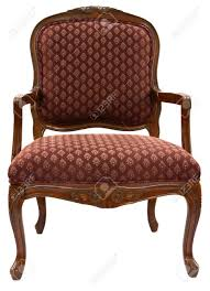 Burgundy Accent Chair Traditional Style Accent Chair In Burgundy Fabric Stock Photo