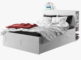 ikea brimnes bed. Ikea Brimnes Bed 1 3d Model Max Obj 3ds Fbx Mtl 4 B