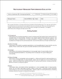 Work Performance Appraisal Sample Employee Job Forms Review ...