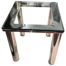chrome glass end tables polished chrome glass small end table for at intended for small chrome glass end tables