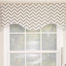 "Zig-Zag Cornice 50"" Curtain Valance | Valance, Home deco furniture ..."