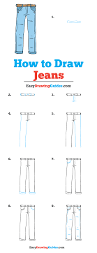 How To Draw Pants How To Draw Jeans Really Easy Drawing Tutorial