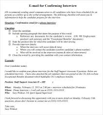 How To Confirm An Interview Confirm Interview Email Sample Sinda Foreversammi Org