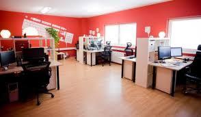 office room interior design. Red Wall Office Room Interior Design I