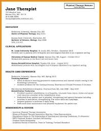 Physical Therapy Resume Examples New Marriage And Family Therapist