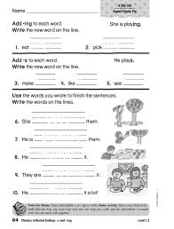 Adding Ing Lesson Plans & Worksheets Reviewed by Teachers