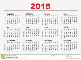 Calendar Format 2015 2015 Calendar Template Stock Vector Illustration Of