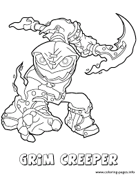 Small Picture Skylanders Swap Force Undead Series1 Grim Creeper Coloring Pages