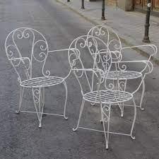 vintage spanish garden chairs set of 3
