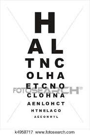 Eye Chart Letters Eye Test Chart Stock Illustration K4958717 Fotosearch