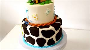 Baby Shower Round Cakes For Boys  BarberryfieldcomBaby Shower Safari Cakes