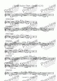 Violin Music Scales Chart Violin Scales Chart Grade 4 Ln For Solo Instrument Solo Violin By Andrew Hsu Sheet Music Pdf File To Download
