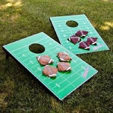 Wooden Corn Hole Game Football Corn Hole Set Wood Cornhole Boards Tailgate Party Games 65