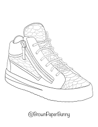 How to create a nike shoe coloring page? Free Coloring Pages Shoes Brown Paper Bunny Studio