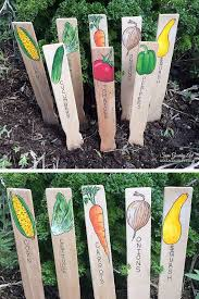 hand painted garden signs plant markers handmade garden markers plant labels vegetable signs gift for gardener father s day gift