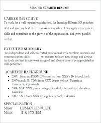 Mba Career Objective For Resume Best of Resume Objective For Freshers Resume Sample