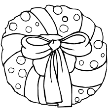 Small Picture Christmas Wreath Coloring Page Wreath With Big Bow