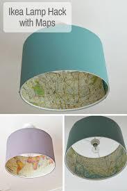 The Best Ikea Lamp Hack - Rismon Map Lampshade. Ikea LampDecoupage LampDiy  ...