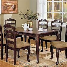 furniture of america kathryn clic style dining table dark walnut finish