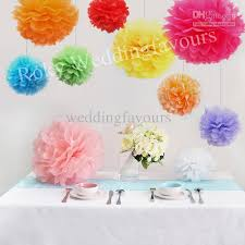Party Decorations Tissue Paper Balls Freen Shipping Mix 100 SizesColors Tissue Paper Pom Poms Flower 59