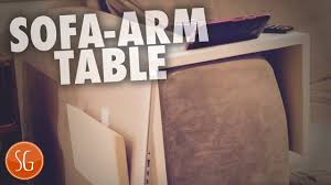 Sofa Armrest Table Lets Make A Sofa Arm Table From Scrap Wood Youtube