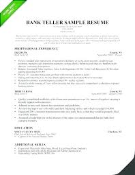 Teller Resume Sample Bank Teller Resume Sample Canada Experience Example Resumes For