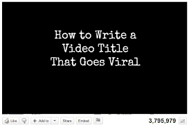 Whats In A Name Six Tips For Writing Video Titles That Go Viral