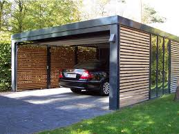 The Look Of Our Garaging Black With Wooden Slats And A Timber Outdoor Garage Design