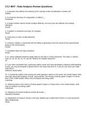 Ccj 4647 Ccj 4647 Data Analysis Review Questions 1 A