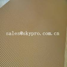 abrasion resistant natural crepe shoe sole rubber sheet corrugated pattern