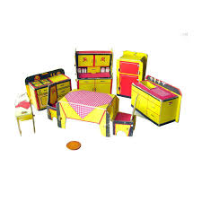 Miniature Dollhouse Kitchen Furniture Built Rite Miniature Dollhouse Kitchen Furniture Set No 49