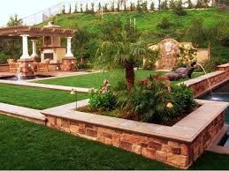 Exterior  Lawn And Garden Garden Luxury Backyard Landscape Design Images Of Backyard Landscaping Ideas