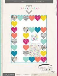 167 best Free Quilt Patterns ✽ images on Pinterest & Heartsome Free Quilt Pattern by AGF Studio Adamdwight.com