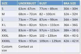 36g Bra Size Chart Size Chart Infinity Bride