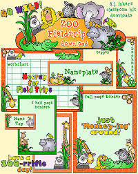 zoo field trip clipart. Modren Trip Zoo Field Trip Classroom Kit Download Throughout Clipart