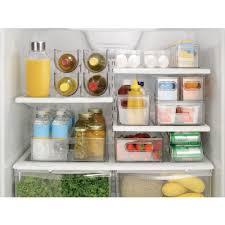 InterDesign Refrigerator Storage Organizer For Kitchen Covered - Kitchen refrigerator