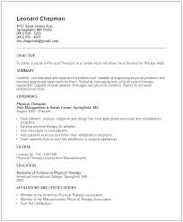 Physical Therapy Resume Sample Sample Physical Therapy Resume Sample ...