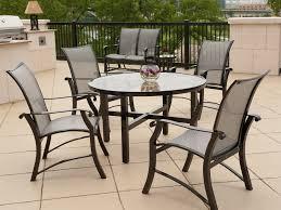 popular of round patio dining table aluminum outdoor circular paver designs kit home depot half