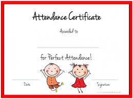 Free Printable Perfect Attendance Certificate Template Mesmerizing Download 48 Perfect Attendance Certificate Template Download