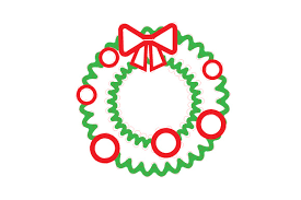 A variety of christmas and chanukah files to download for you digital cutter. Christmas Wreath Outline Design Svg Cut File By Creative Fabrica Crafts Creative Fabrica
